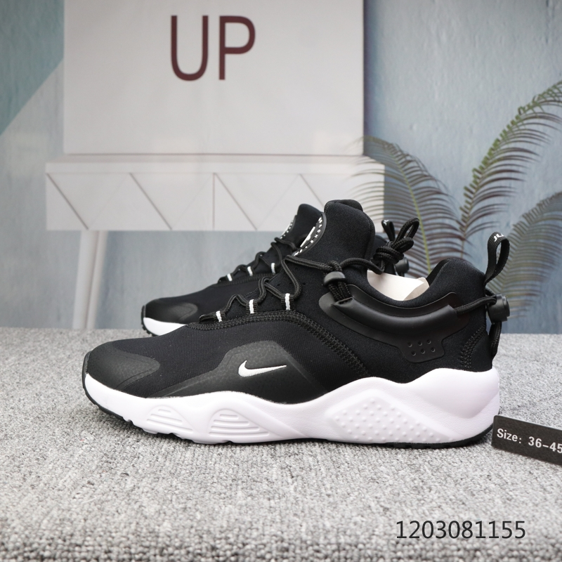 2020 Men Nike Air Huarache 8 Black White Shoes